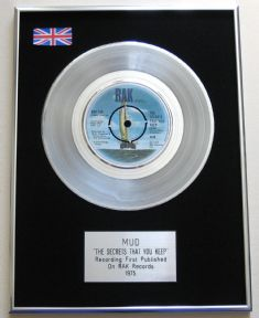 MUD - THE SECRETS THAT YOU KEEP PLATINUM single presentation DISC